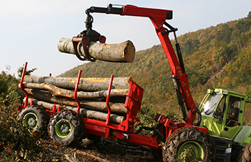 Forestry truck in operation