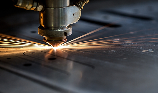Flying sparks from metal work equipment