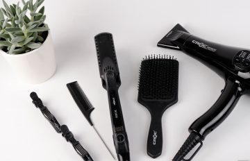 Hair equipment on a white table