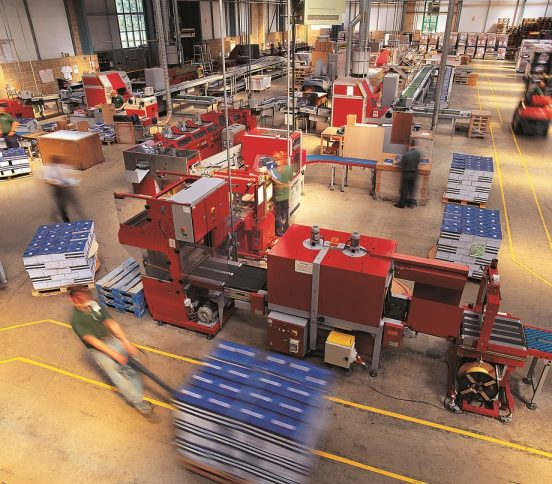 Busy warehouse operation
