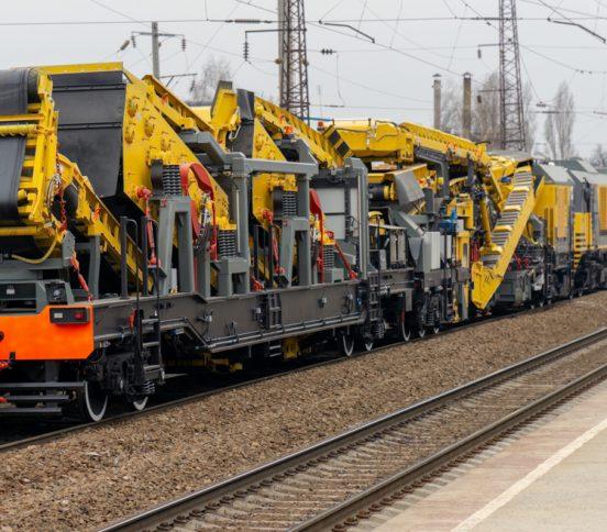 Rail track equipment