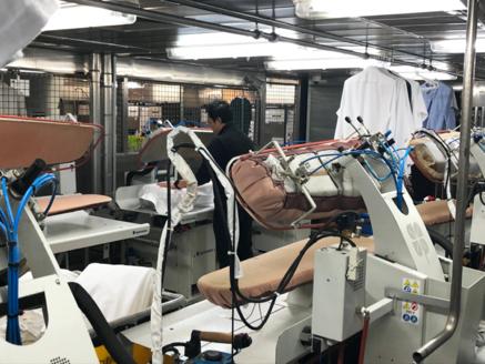 Ironing facility for clothing